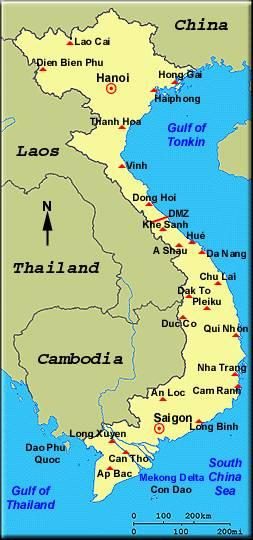 Guerra De Vietnam Mapa.La Guerra De Vietnam