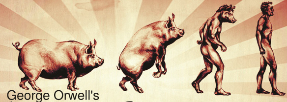 the personification of pigs in the animal farm by george orwell