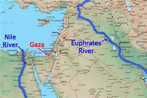 Map Of Asia Euphrates River.Sw Asia Middle