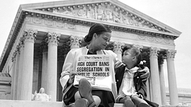 brown v board Brown v board of education of topeka: brown v board of education of topeka, 1954 us supreme court case in which racial segregation in public schools was ruled unconstitutional.