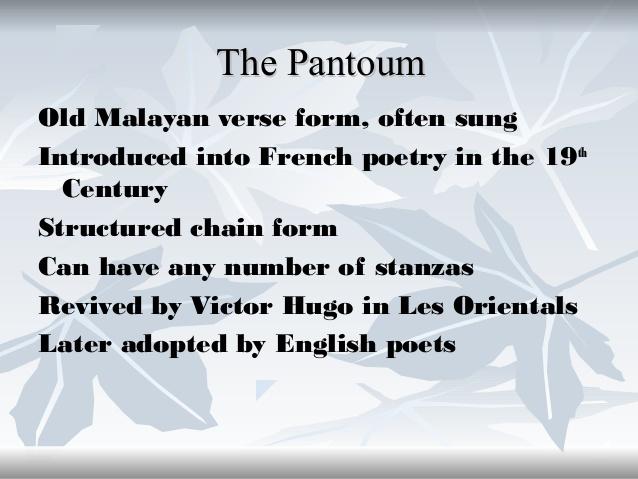 Pantoum Poetry Presentation on emaze