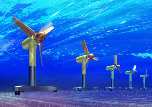Tidal Energy from underwater turbines