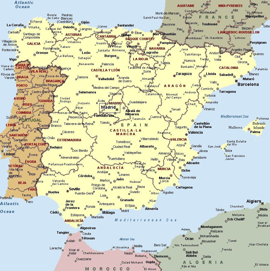 Cartina Spagna Orientale.Traveling Spain Copy1 By Antonella Iacomino On Emaze