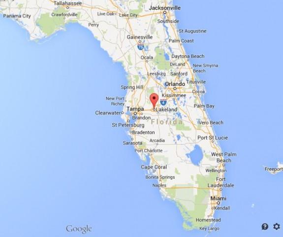 Mulberry Florida Map.Sinkholes