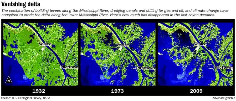 Image Gallery Louisiana Erosion