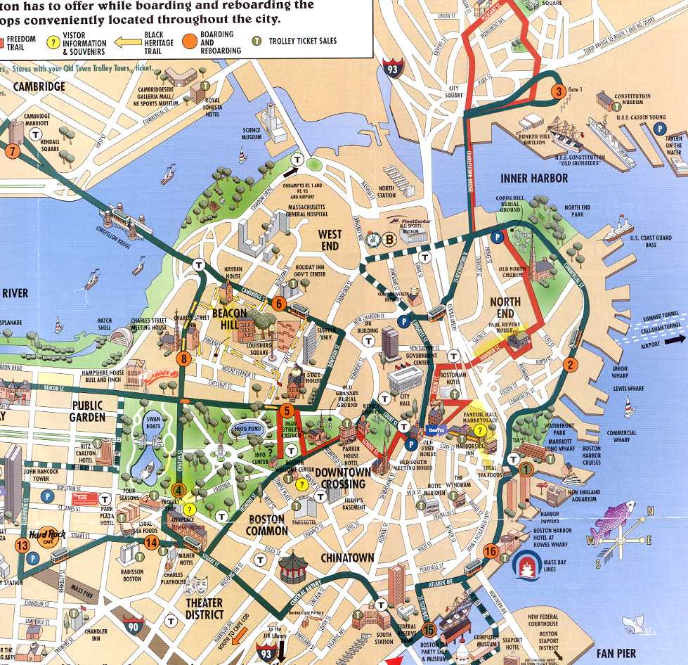 Downtown Boston Hotels Map | 2018 World\'s Best Hotels
