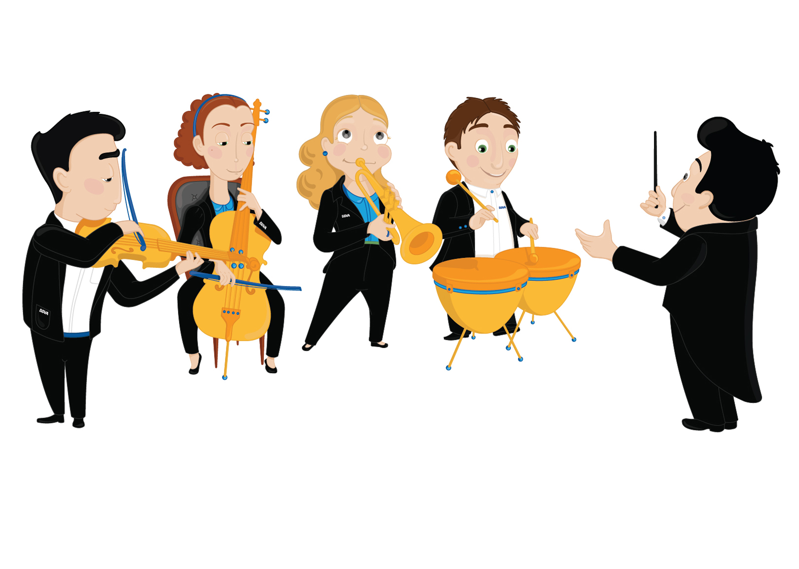 Картинки дирижера и оркестра для детей