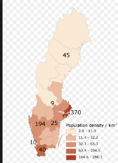 SwedenBy Sara On Emaze - Sweden map population