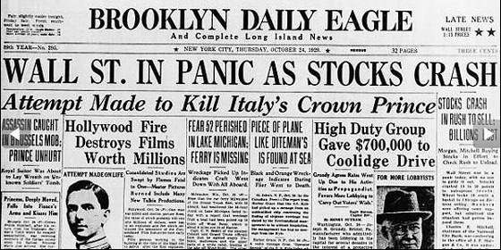Image result for wall street crash