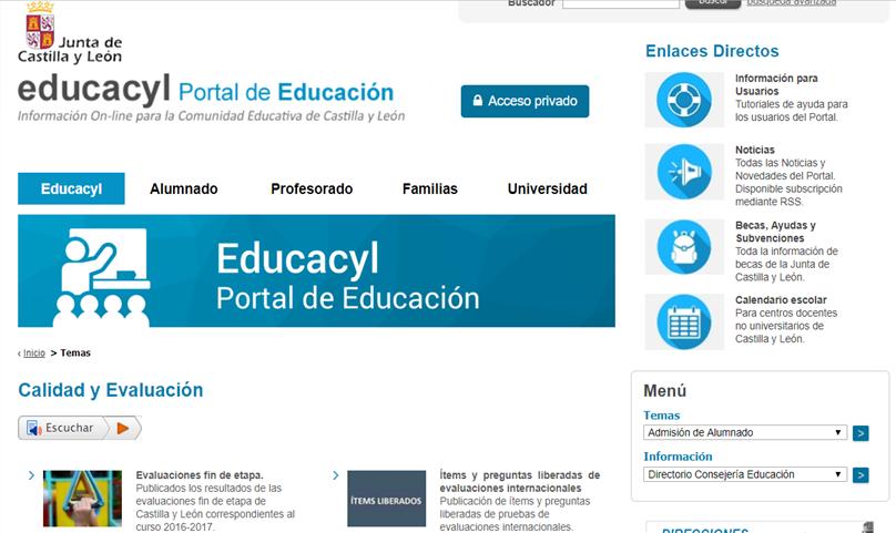 Calendario Educacyl.Evaluacion Educativa