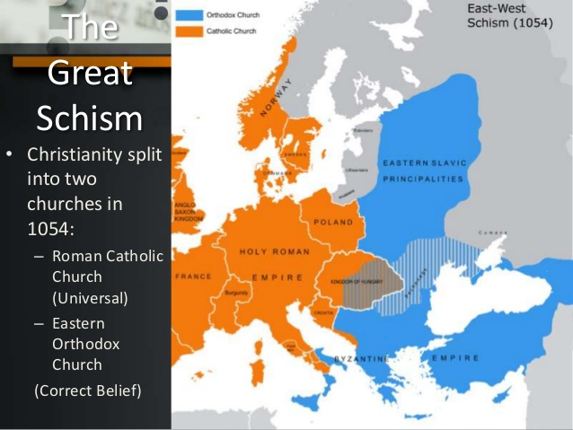 the gradual estrangement of the east Reunification with the orthodox churches in the east, there were numerous the gradual and mutual estrangement between the churches of the west and the east.