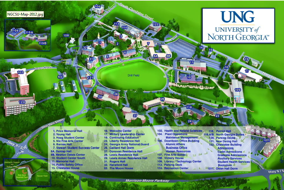 Ung Campus Map Ung Campus Map | World Map Gray