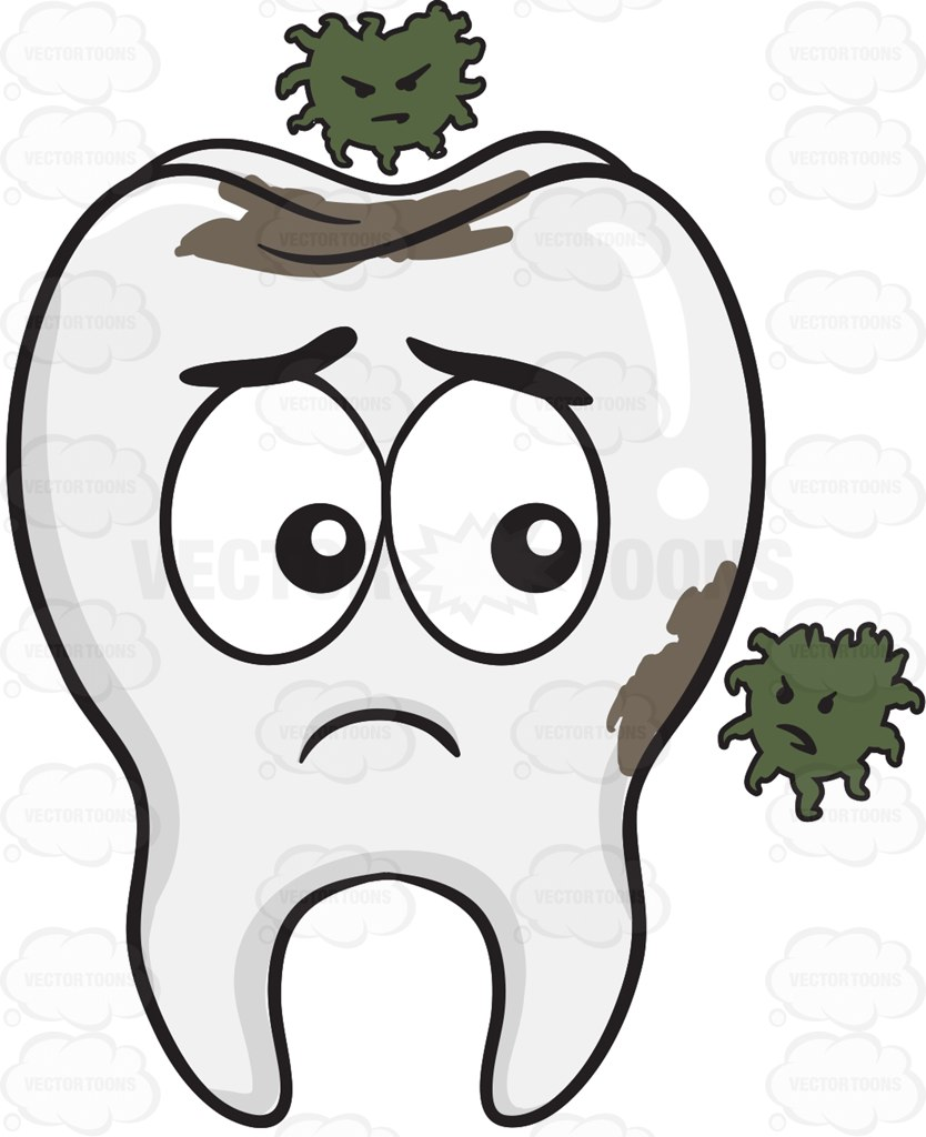 sad tooth coloring page