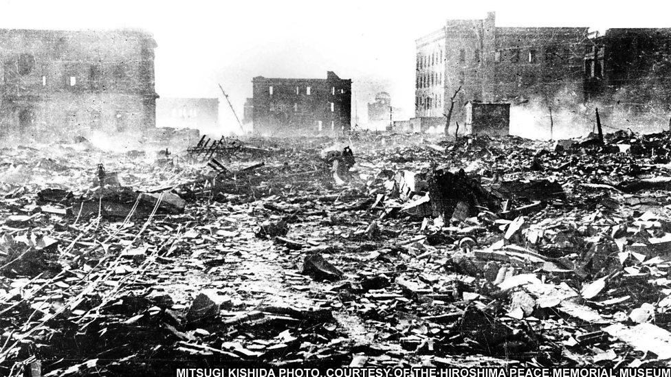 """a view on the bombing of hiroshima by the united states during the world war ii Towards the end of world war ii, in hiroshima, japan, thousands died the """"enola gay dropped a 9,000 lb tnt bomb called """"little boy"""" approximately 78,150 people died after one death count, but radiation was still lethal three days later, another bomb was dropped """"fat man,"""" dropped by."""