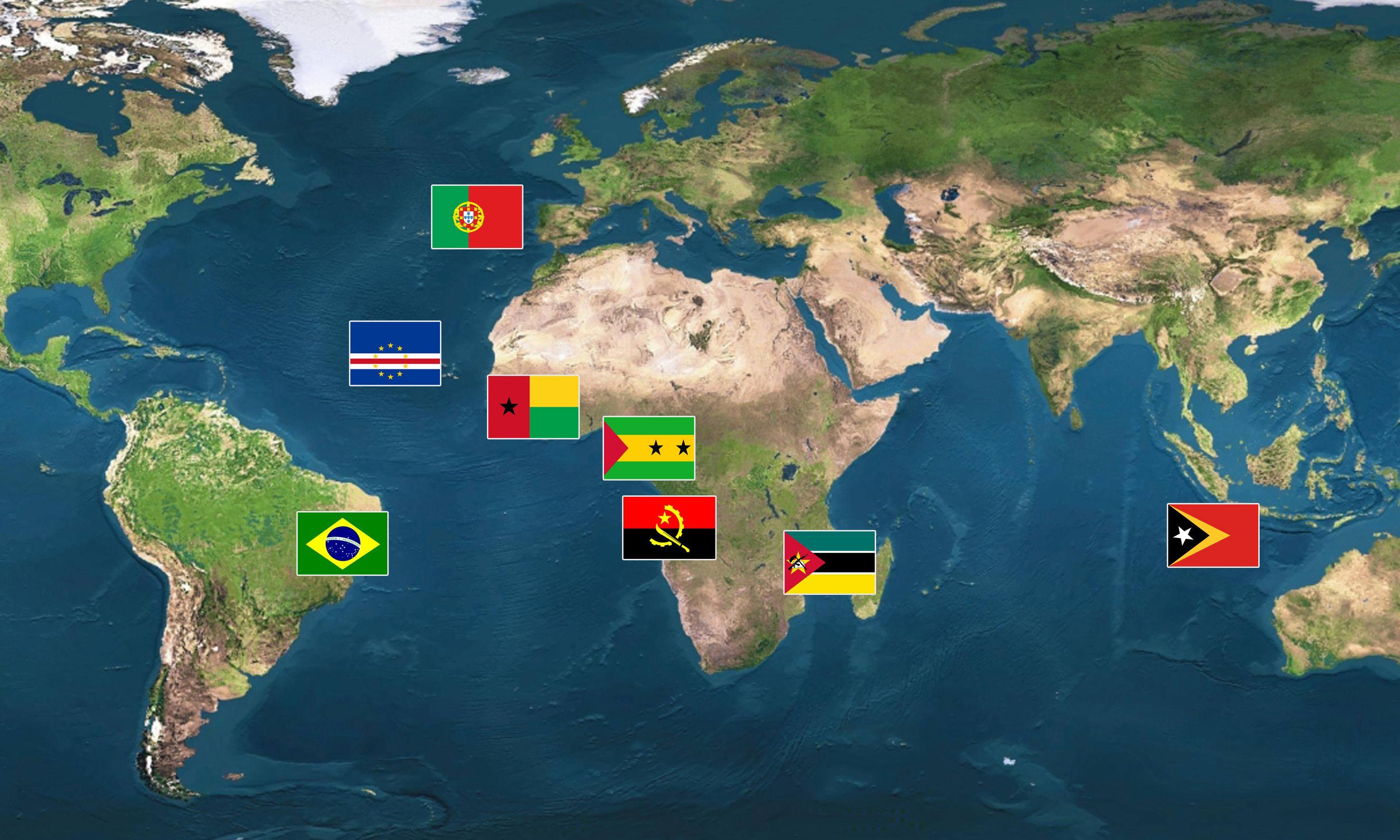 Cape Verde Map World%0A Angola  Brazil  Cape Verde  East Timor  GuineaBissau  Macao  Mozambique   Portugal  S  o Tom    u     Principe