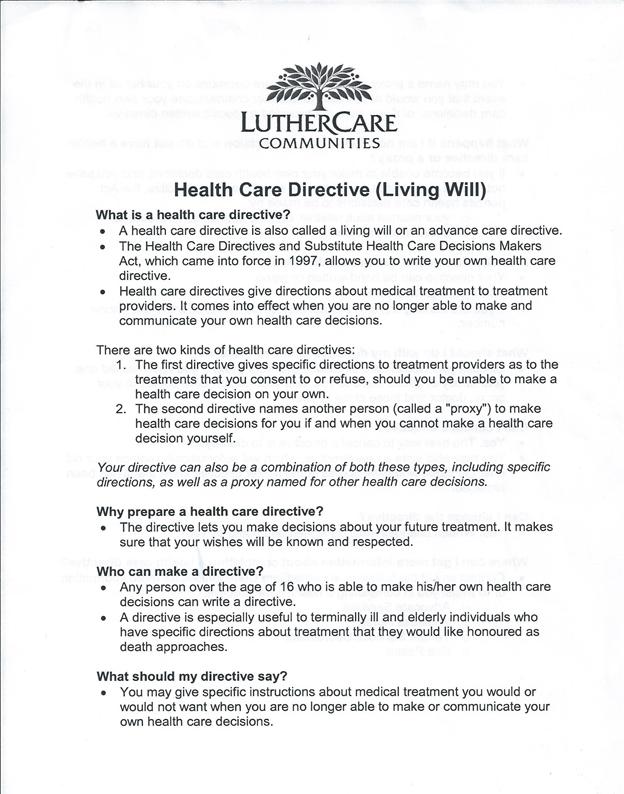 CNUR 401 – Health Care Proxy Form