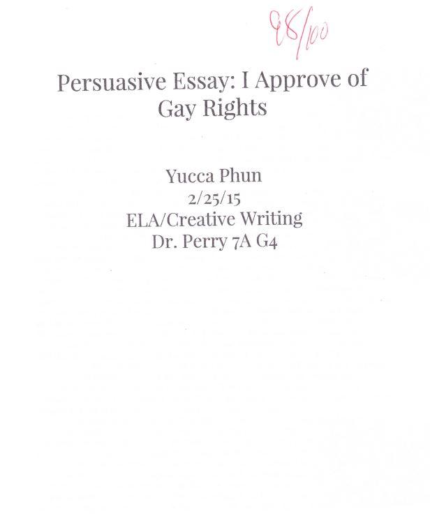 gay rights persuasive speech