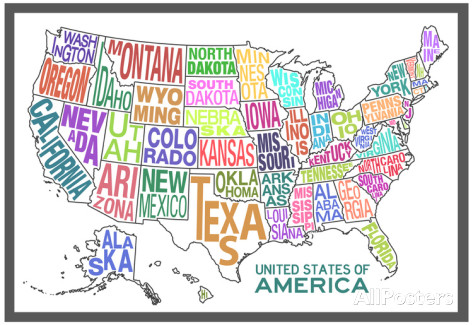 Map Of States In Us Globalinterco - Cute us map
