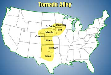 What states make up Tornado Alley?