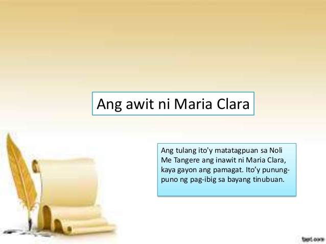 the song of maria clara analysis