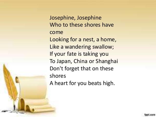 to josephine poem of rizal