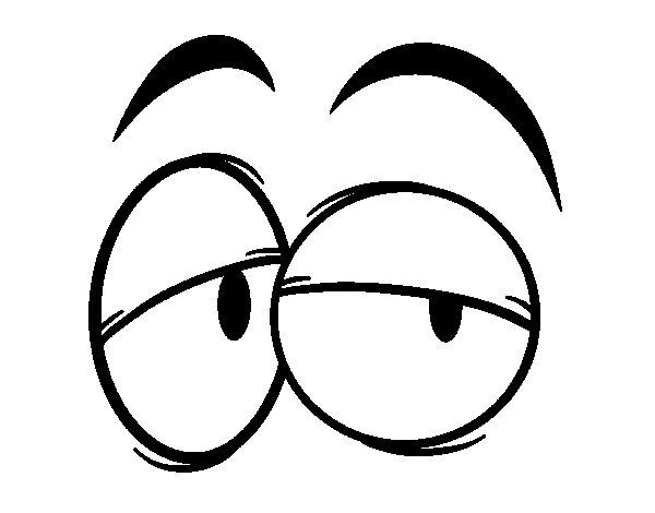 Resultado de imagen de dos ojos dibujo animado