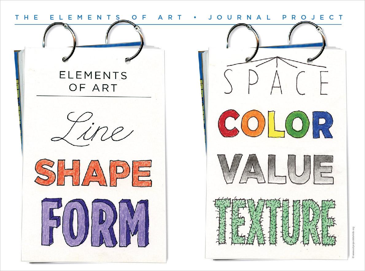 Color value art projects - Space Color Value Texture