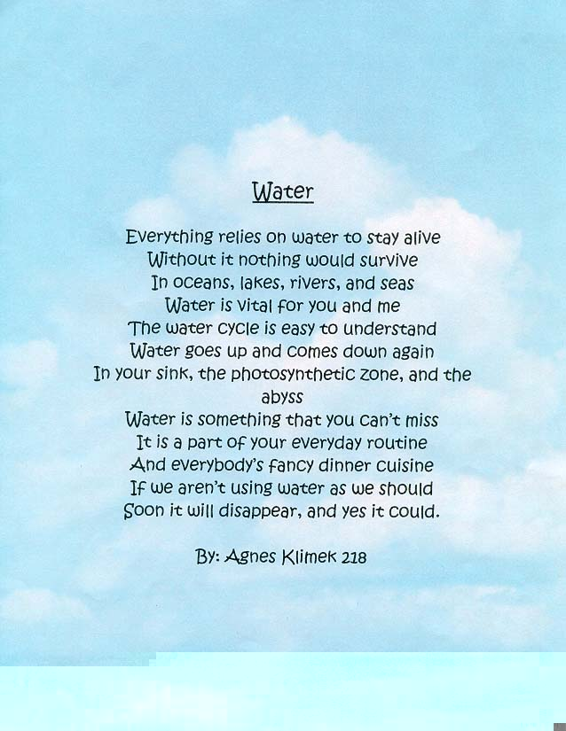 poems about water - water damage los angeles