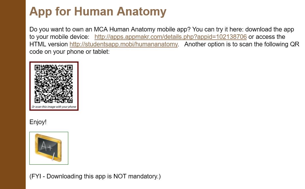 Discipline Report Human Anatomy