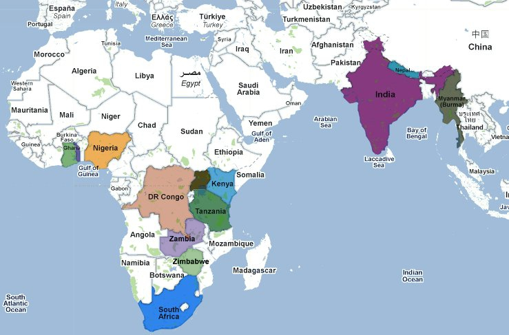 Map Of India And Africa.Indiaaa By Traceyhassanali On Emaze
