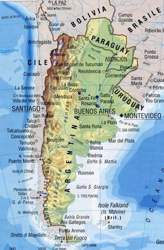 Patagonia Cartina Geografica.Argentina