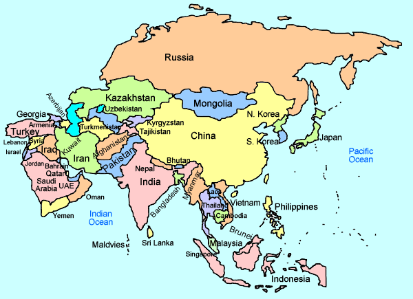Maps Update 755538 Map of Asia with Names Asian Maps Maps of – Asia Map with Country Names