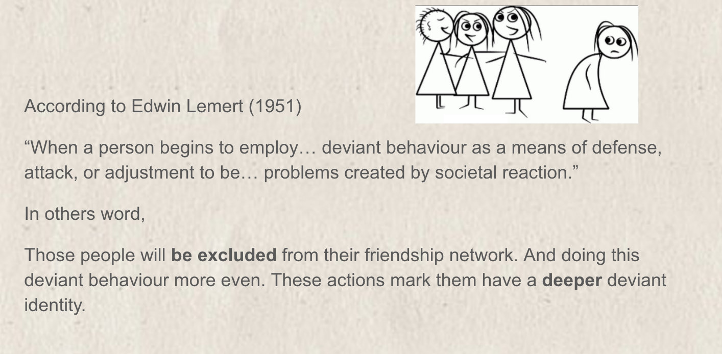 an analysis of the topic of the persons deviant behavior The social reaction to deviance is significant if a behavior is accepted it would not be considered deviant is behavior is behavior that people so label.