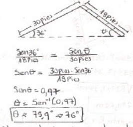 Teorema del seno y del coseno on emaze for Escaleras 45 grados