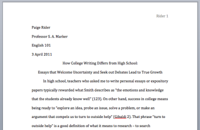 How to write mla paper
