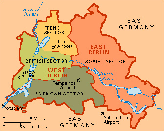 Cold War On Emaze - Germany map after ww2