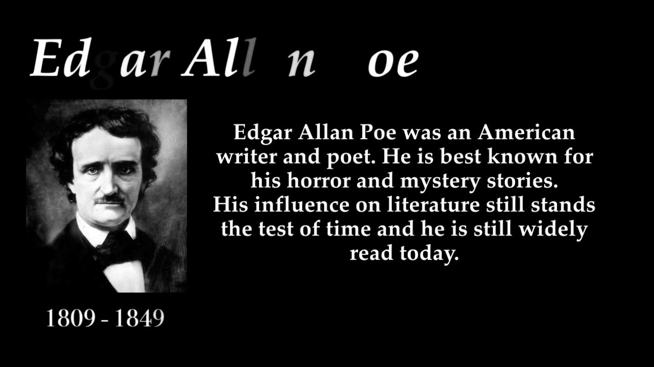 edgar allan poe and his works essay Essay the autobiographical elements in the works of edgar allan poe there is no exquisite beauty without some strangeness in the proportions (biography on poe 8) edgar alan poe endured a very difficult life and this is evident in his literary style.