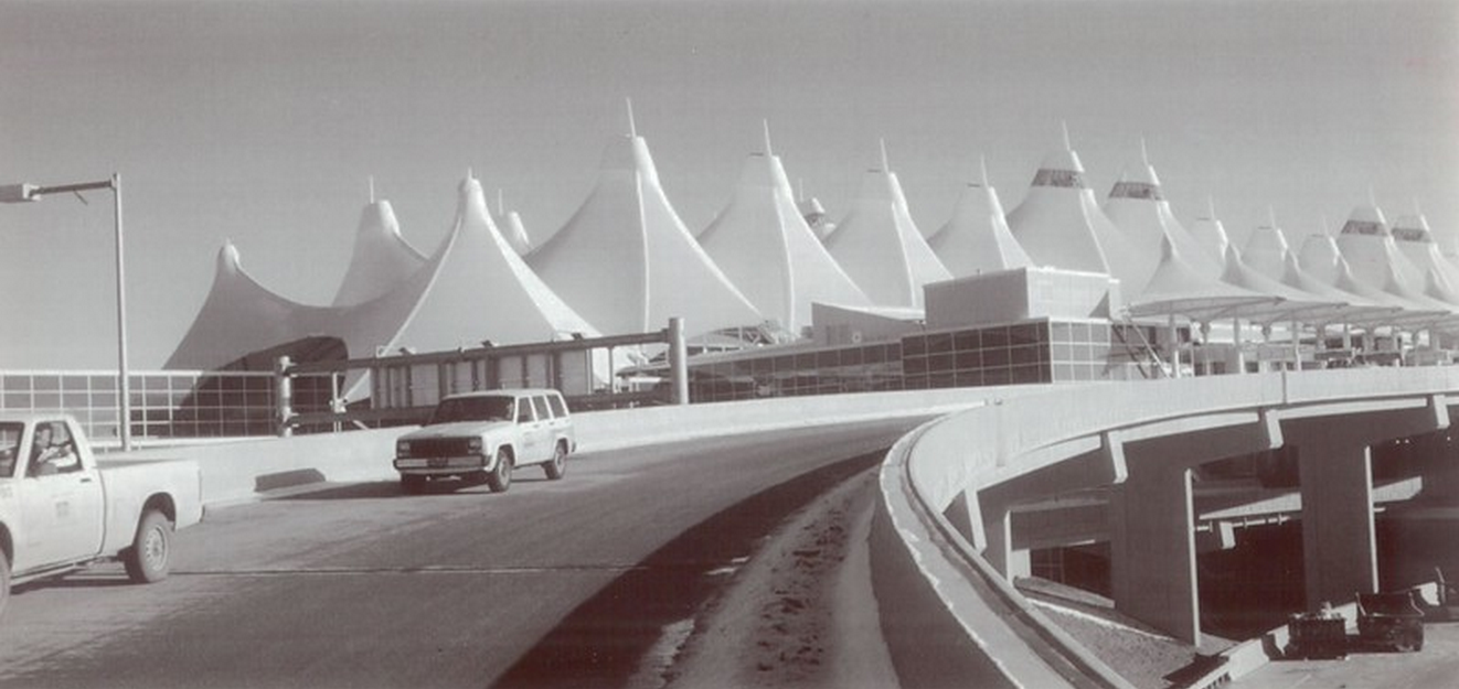 Denver International Airport Roof, 1994. The Denver Post Library Archive