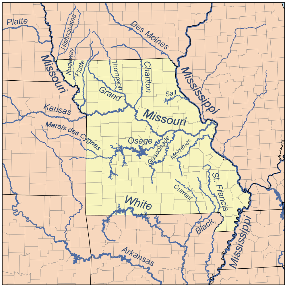 Mississippi State Maps USA Maps Of Mississippi MS Map Of Usa - Us map with big rivers