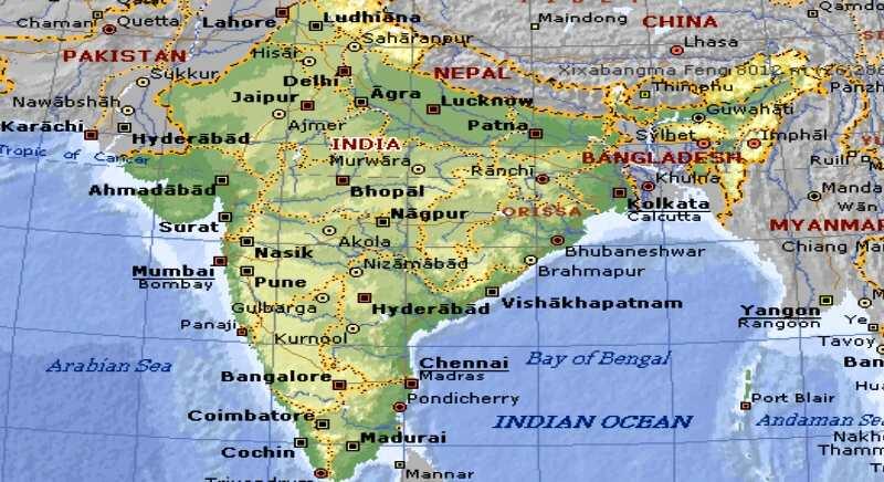 Cartina India.India