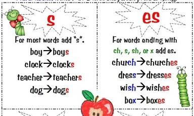 Image result for plurals s es
