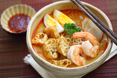 laksa water and chicken