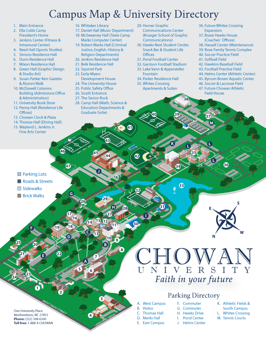 Chowan University Campus Map.Chowan University 2015