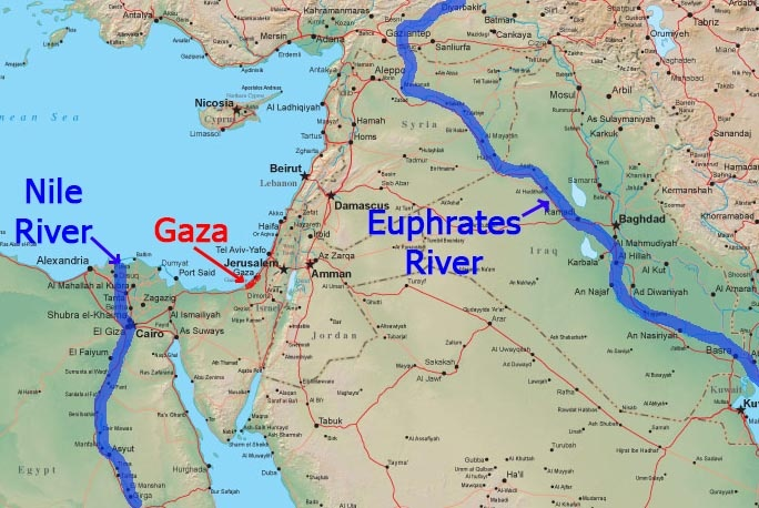 Images of Tigris And Euphrates River Map - #rock-cafe