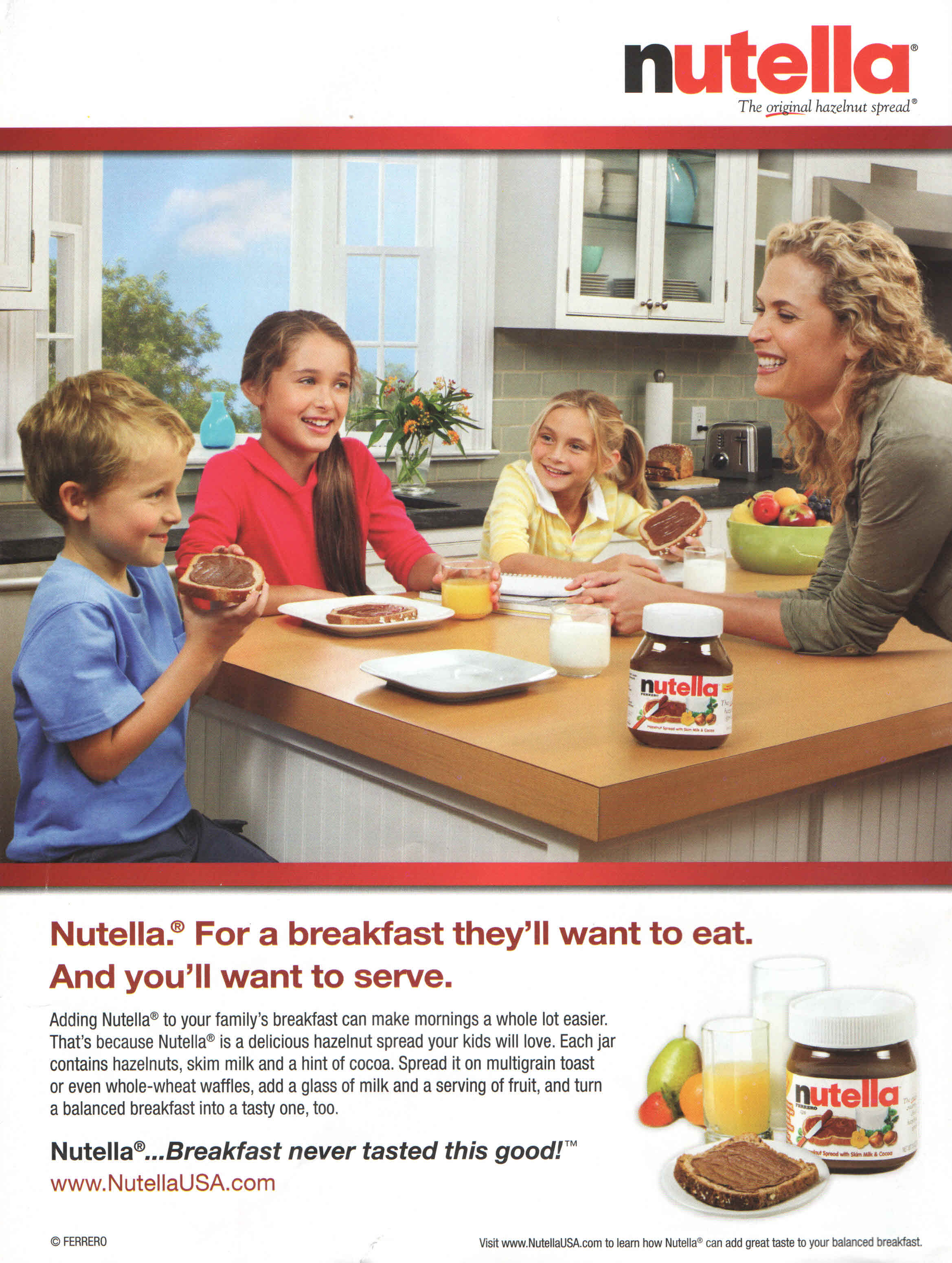 Image result for nutella healthy ad