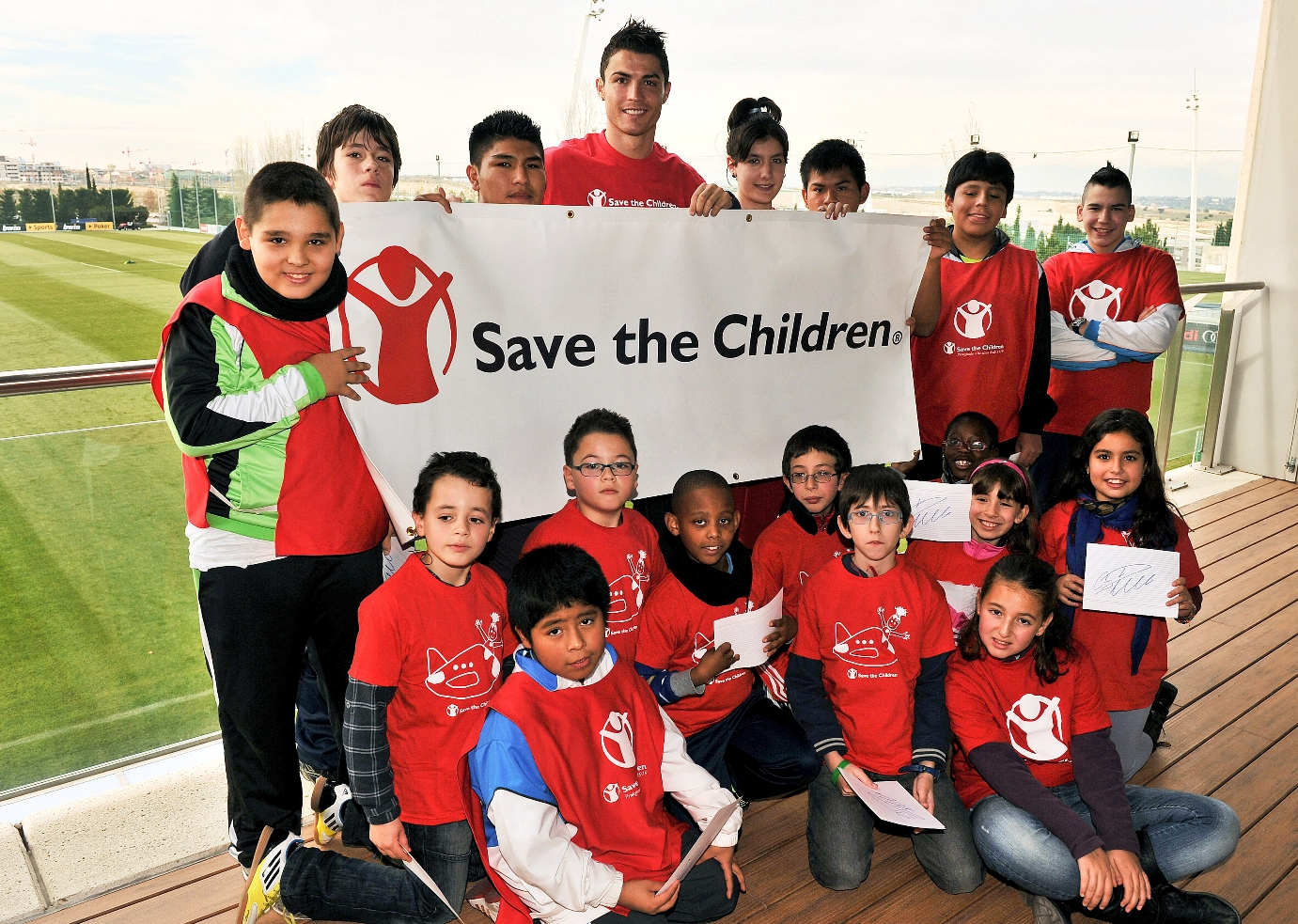 Image result for ronaldo doing charity