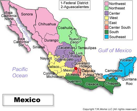 Ww On Emaze - Mexico climate map
