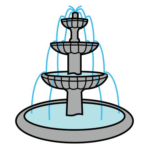 Рисунок фонтана 7 класс