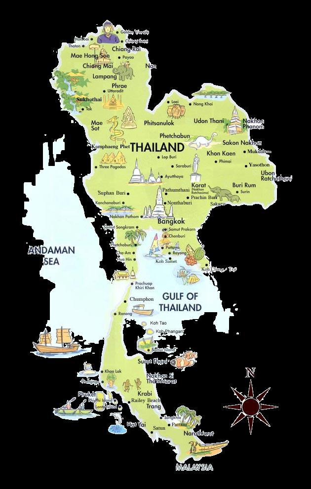 detailed map of korat thailand - 630×939