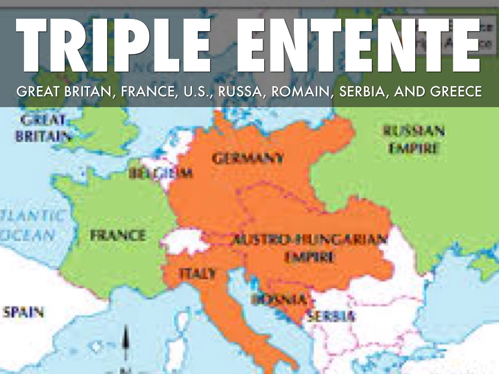 the triple entente The triple entente consisted of great britain, france and russia it was formed through a variety of different diplomatic agreements and treaties between the three countries in the late 19th and early 20th centuries, and helped smooth over previous rivalries the three countries had with one another .